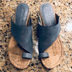 Donald Pliner Cork Wedge Sandals